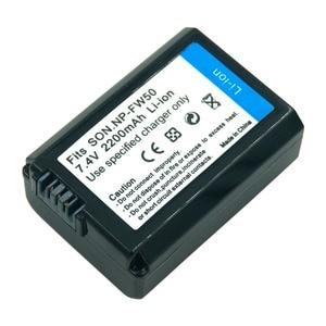 Image 5 - Batería de cámara recargable para Sony Alpha 7R A7R 7S A7S A3000 A5000 A6000 NP FW50 5C A55, 2 uds., 7,4 v, 2.2A, NEX 5N, NP FW50, NPFW50