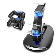 Быстрое зарядное устройство док-станция с двумя usb-портами для sony playstation PS4 контроллер быстрое зарядное устройство