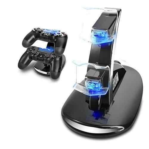 Fast Charger Dock Dual USB Charging Stand for Sony PlayStation PS4 Controller Fast Charger