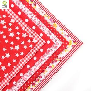 Image 3 - 100% Tissus Tessuto di Cotone Telas Patchwork Tessuto Grasso Quarti Fasci di Tessuto Per Cucire Patchwork Bambola Panni 50*50 CENTIMETRI 56 pz/lotto