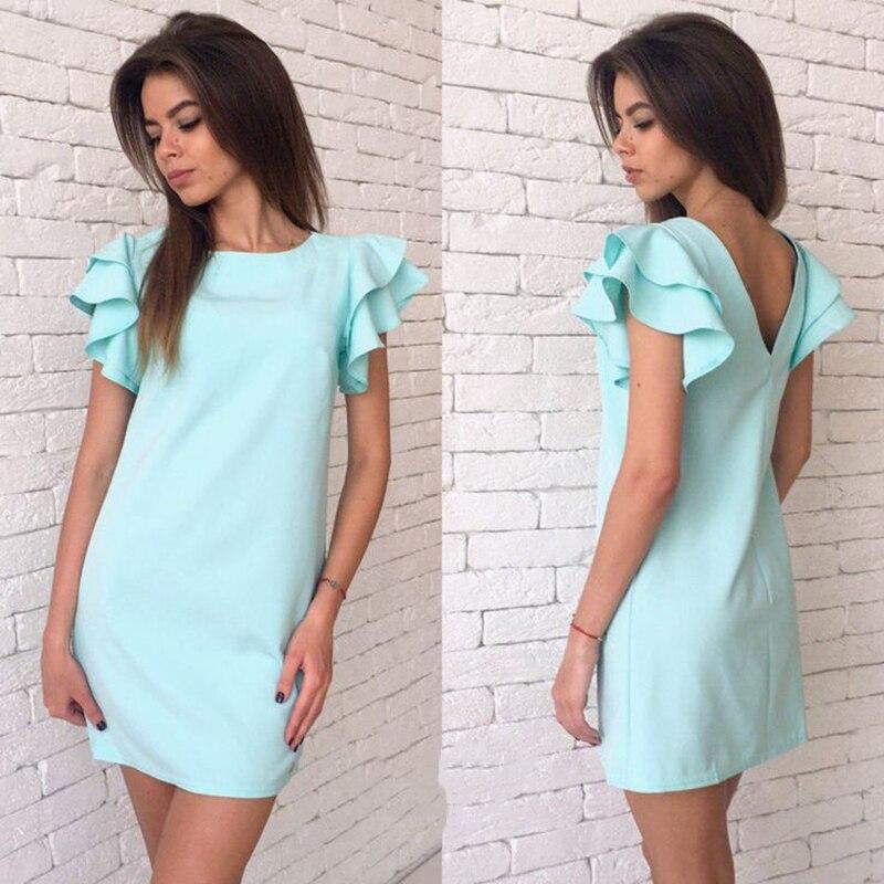 Женское модное элегантное однотонное платье фото