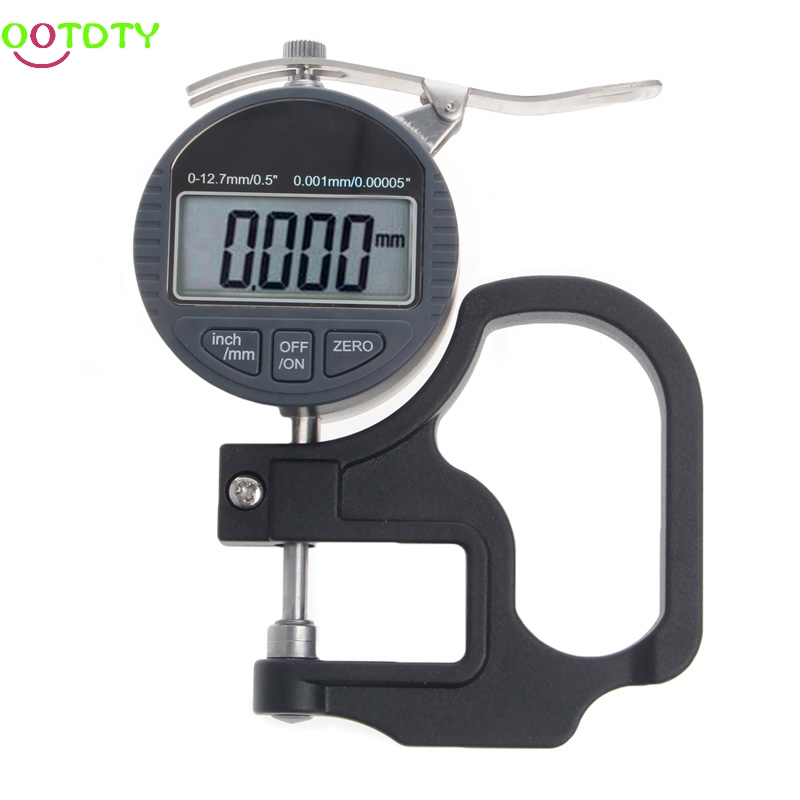 Digital Micrometer 0.001 12.7mm Electronic Thickness Gauge Depth LCD Measurement  828 Promotion new high precision digital micrometer precision thickness gauge 0 12 7mm 0 001mm paper film fabric tape thickness measurement