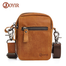Joyir fashion genuine leather  waist bags for men waist bags men high quality leather waist pack men's waist bag small bags 6335