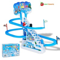 Electronic Educational Baby Kid Plastic Sliding Board Toddler Infant Intelligence Toys Gift Penguim Animal Climbing Stairs