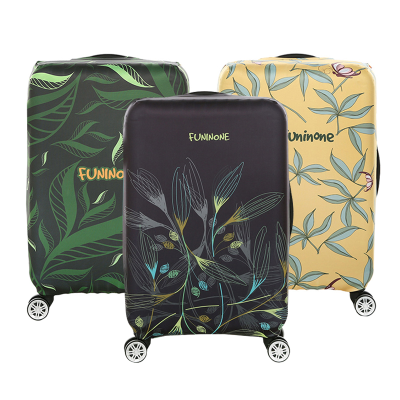 Green Plants Luggage Dust Protective Cover Women's Men's Elastic Suitcase Travel Case Trolley Protect Zip Bag Travel Accessories