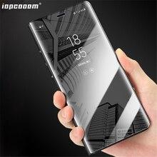 For Samsung Galaxy J3 J5 J7 2017 J330 J530 J730 Case Flip Mirror Luxury Business Clear View wake Smart bracket Phone Cover Coque стоимость
