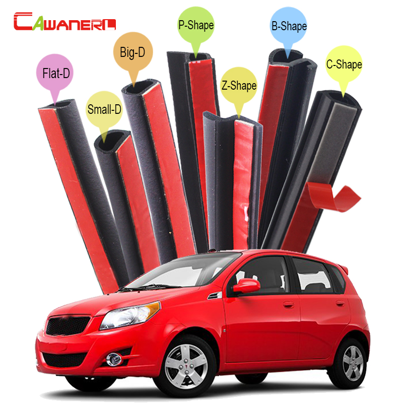 Cawanerl Full Car Seal Edge Trim Rubber Weatherstrip Sound Control Sealing Seal Strip Kit For Pontiac G3 G8 Vibe Grand Prix цена
