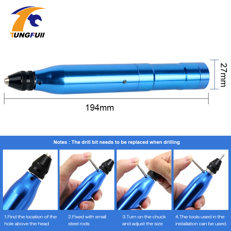 Dutoofree Rotary Tool With Grinding Accessories Set For Dremel Tool Lithium Battery Drill Power Tool Mini Drill Engraver Pen