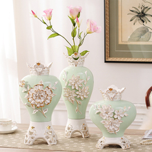 fashion tabletop ceramic flower vase flower design home decoration vase dining table decoration handmade wedding gifts