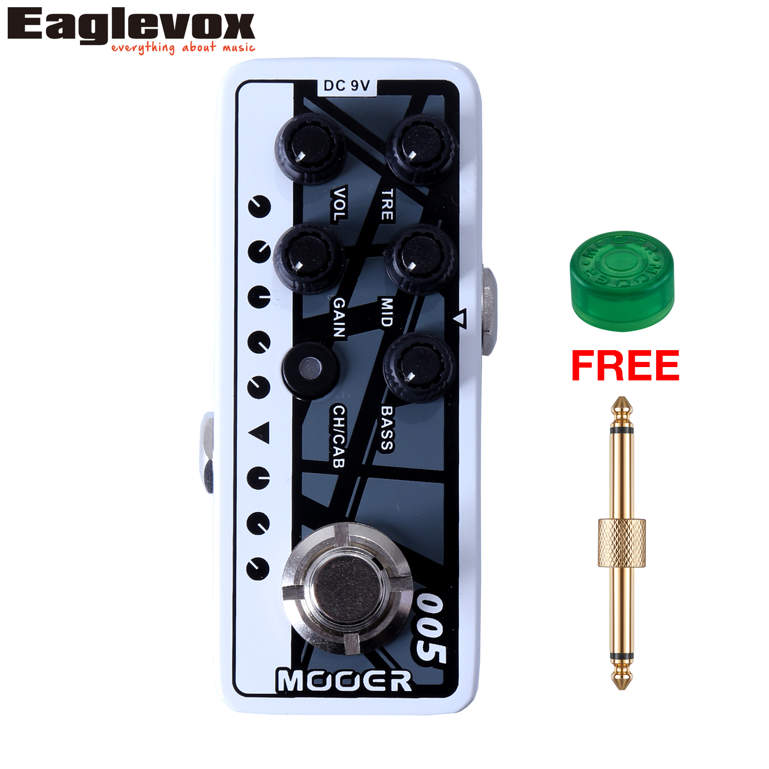 Mooer 005 Fifty-Fifty 3 Micro Dual Channel Preamp 3 band EQ Gain Volume Controls  Guitar Effect Pedal with Free Gift fifty shades darker