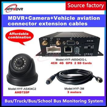 Venta al por mayor de fábrica HD Pixel Monitor Host 4G GPS móvil DVR 2 pulgadas cámara de coche camión de bomberos/coche pequeño/vehículo de construcción MDVR
