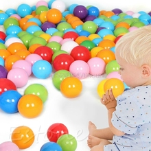 7CM Eco-Friendly Colorful Ball Soft Plastic Ocean toy Ball Funny Baby Kid Swim Pit Toy Water Pool Ocean Wave Ball 100PCS #H055# недорого