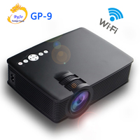 Poner Saund GP 9 wifi Mini LED projector android Projector Full HD Portable Home theater projector LCD Video proyector GP9 wifi