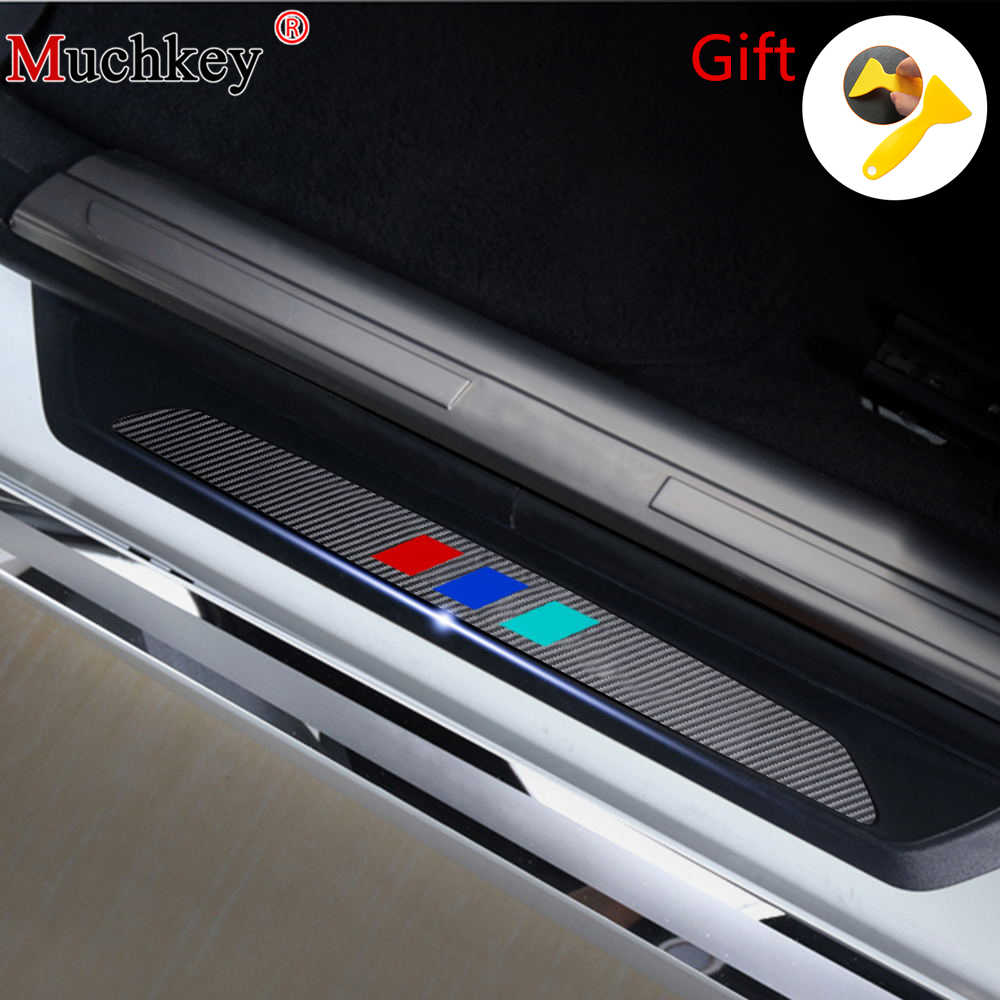 4d M Carbon Fiber Car Door Sill Cover Sticker For Bmw 3 Series E46 Sedan And Touring 316 318 320 325 328 330 323 1998 To 2005