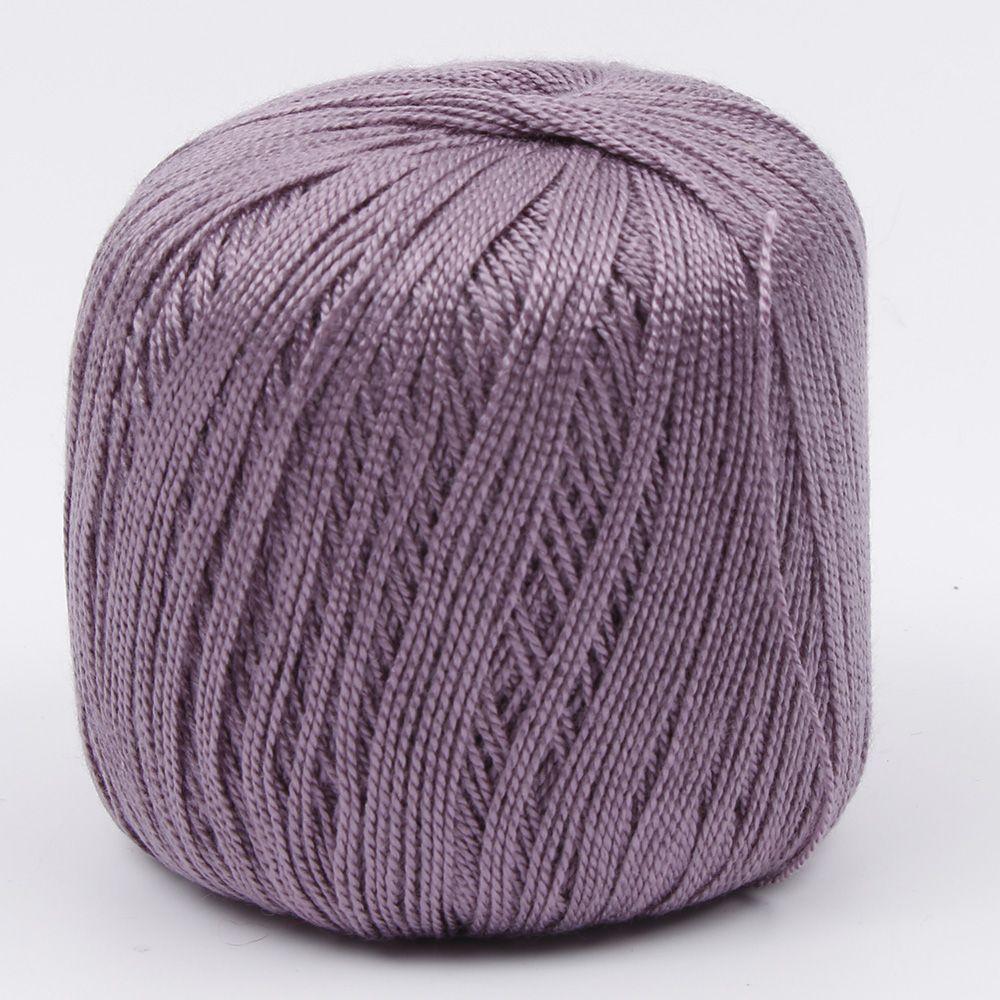 1 шт. DIY мерсеризованный хлопок шнур нить ПРЯЖА для вышивки крючком вязание кружева Ювелирные Изделия швейные инструменты аксессуары - Цвет: Фиолетовый