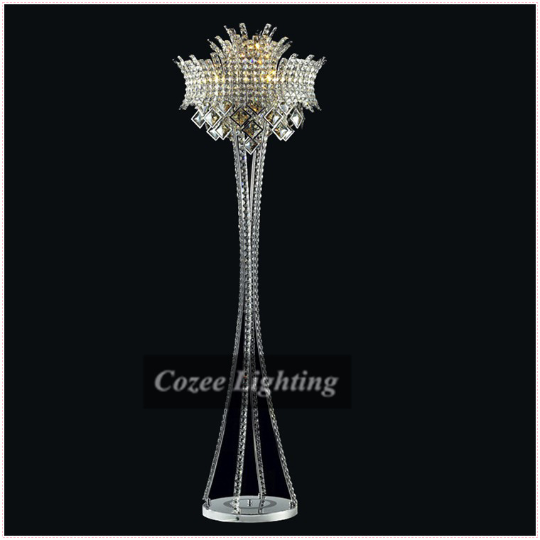 Free Shipping Modern Art Luxury Crystal Chandelier Floor Lamp In European Style At Wholesale