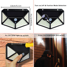 Solar Lights LED Motion Activated Wall Light Bright Waterproof Wireless Security Outdoor Lighting With Motion Sensor new(China)