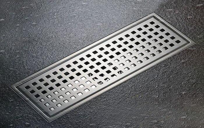 цена на Floor Drain 110*300mm Shower Waste Drainer SUS304 Bathroom Products Drain Colander Stainless Steel Floor Drains DR078