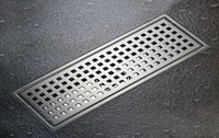 Floor Drain 110*300mm Shower Waste Drainer SUS304 Bathroom Products Drain Colander Stainless Steel Floor Drains DR078