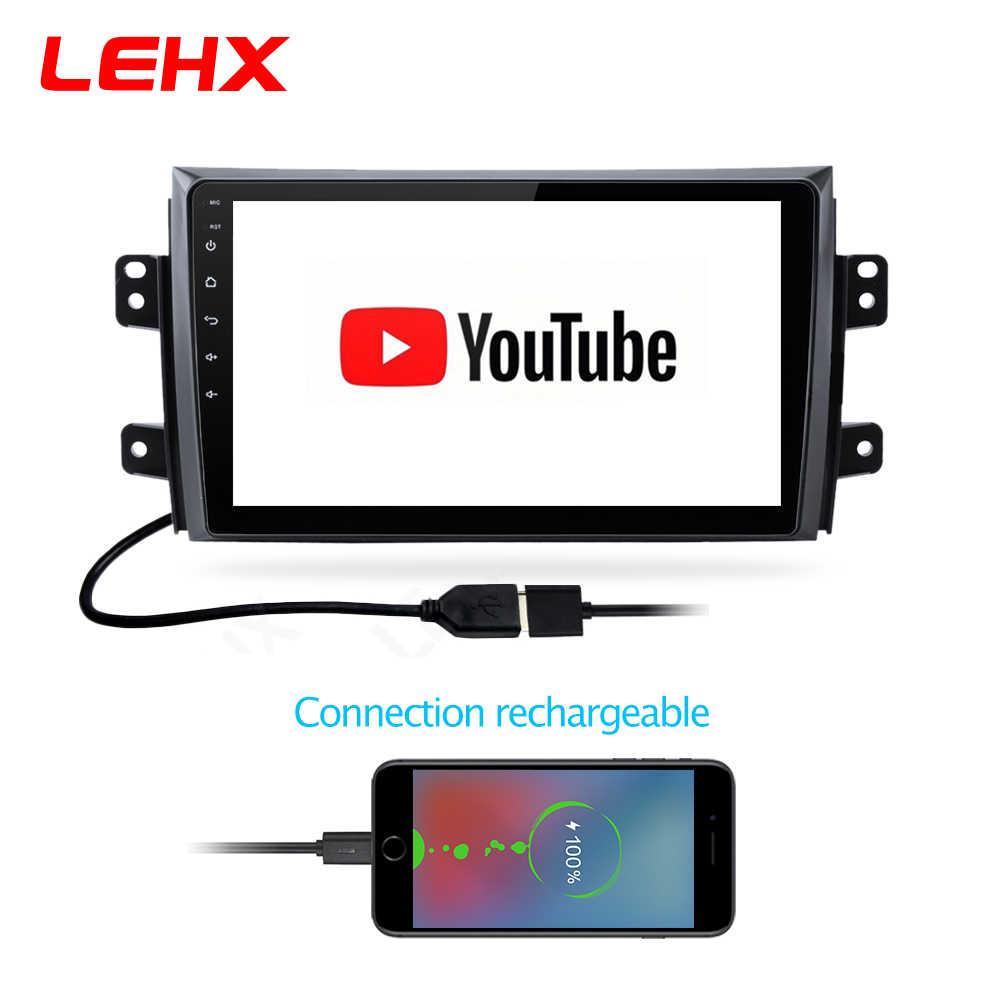 LEHX 2.5D IPS odtwarzacz radia samochodowego z ekranem dla Suzuki SX4 2006 2007 2008-2011 2012 2Din z systemem Android 8.1 multimedialny odtwarzacz nawigacji GPS