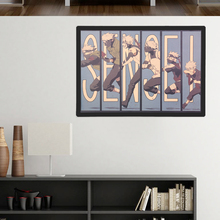 TIE LER Vintage Cartoon Anime Naruto Poster Bar Kids Room Home Decor Comics Naruto Retro Kraft Paper Painting 50.5x35cm