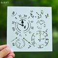 Часы дизайн ремесла расслаиваемый трафарет для живописи Скрапбукинг Тиснение Подарочные бумажные карточки шаблон для скрапбукинга инструмент - фото