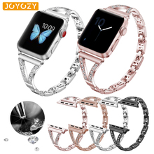 Joyozy stainless steek Apple Watch band women Diamond Band iWatch bracelet stainless steel strap For apple watch band 40mm/44mm length adjustable strap bracelets for man women watch band style stainless steel net band christian cross prayer male jewelry