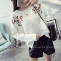 NEW hot sale women's autumn winter spring loose knit sweaters woman college wind sweet embroidery pullovers sweater