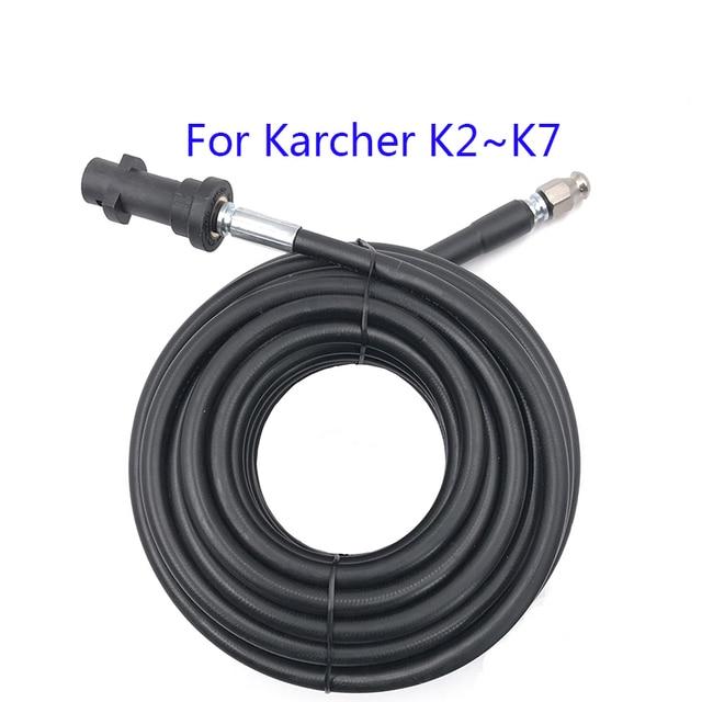 Mangueira de limpeza de esgoto, 6m, 10m, 15m, 20 metros, para drenagem de esgoto, para karcher k1, k2, k3, k4, k5 arruela de alta pressão k6 k7