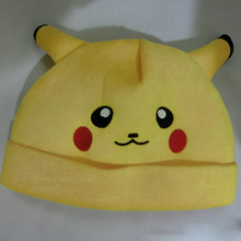 Pokemon Pikachu Cap Fashion Cosplay Apparel Accessory For Children Anime Cartoon Hats Cut Elf Bonnet Kids Birthday Gifts 65AA512