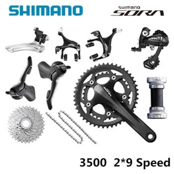 ea4dd7d5f60 sora 3500 2*9 speed groupets road bike groupset black bicycle group—SHIMANO