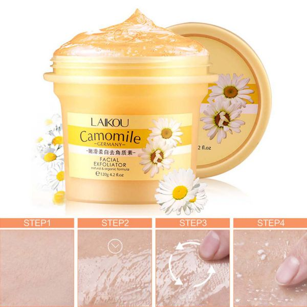 Facial Cleanser Natural Organic Facial Exfoliator Exfoliating Cream Whitening Peeling Cream Gel Face Facial Scrub Removal