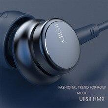 UiiSii HM9 Sıcak Satış Kablolu Gürültü Iptal Dinamik Ağır Bas Müzik Metal Kulak Içi Mic ile iphone için kulaklık Xiaomi Samsung