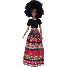 Baby Movable Joint African Doll Toy Black ABS Doll Best Gift doll toys accessories For American Girl Doll #TX(China)