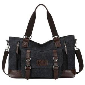 Image 2 - حقيبة قماش للرجال من مانجيهونغ حقيبة مربعة للأعمال ذات سعة كبيرة حقيبة ساعي البريد للكتف غير رسمية