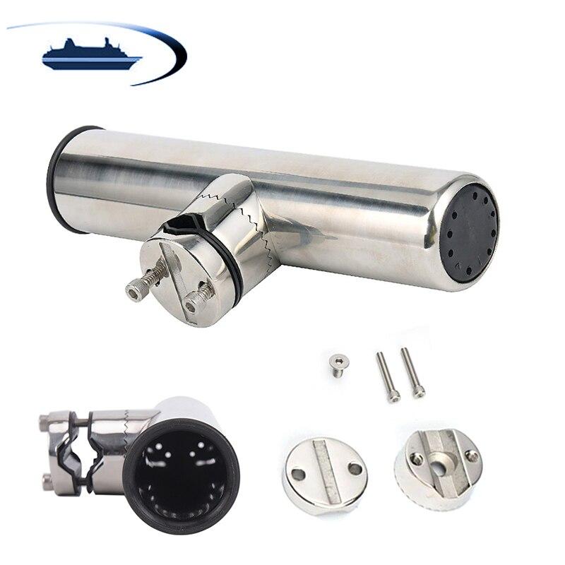Boat Fishing Rod Holder Rack Stainless Steel Fish Rod Holder Pole Adjustable For 19-26mm Rail Marine Hardware Accessory