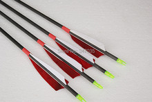 ELONG high quality 100% pure carbon fiber arrow 12 pcs 31″ spine 300 turkey feather archery bow hunting outdoor sport