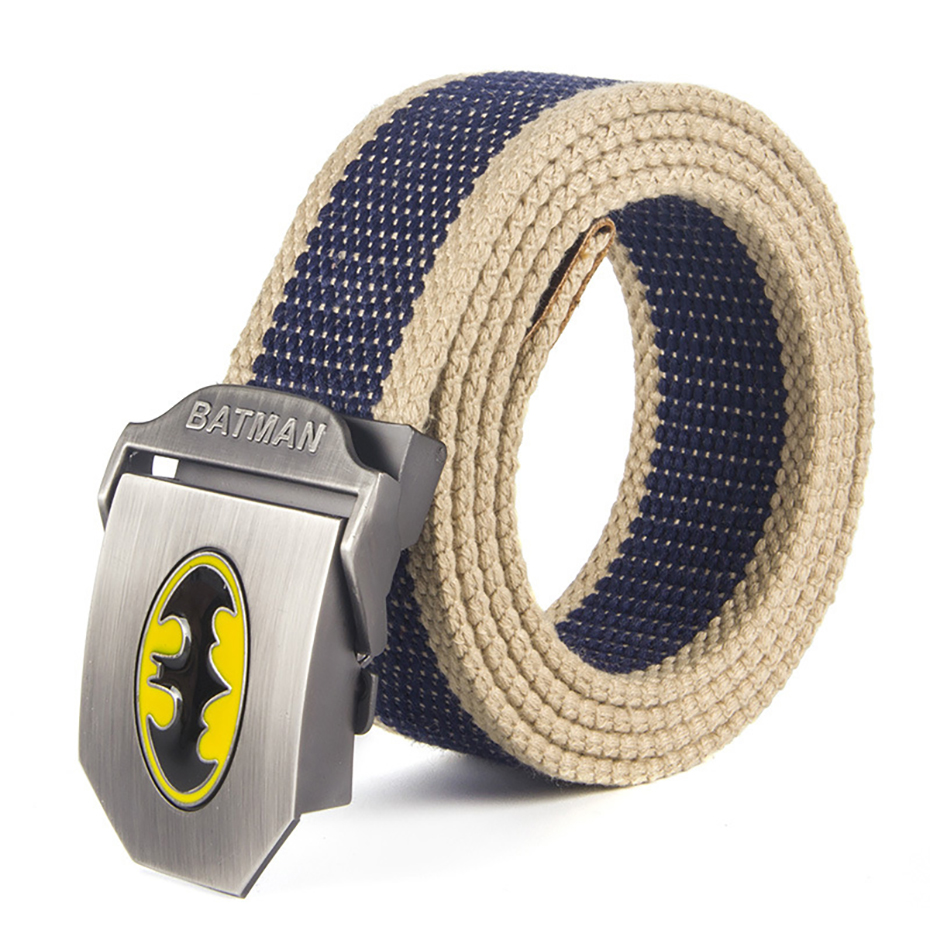 Unisex Batman Canvas Tactical Belt High Quality Military Belts For Mens & Women Luxury Jeans  Belt 6 Colors 110cm