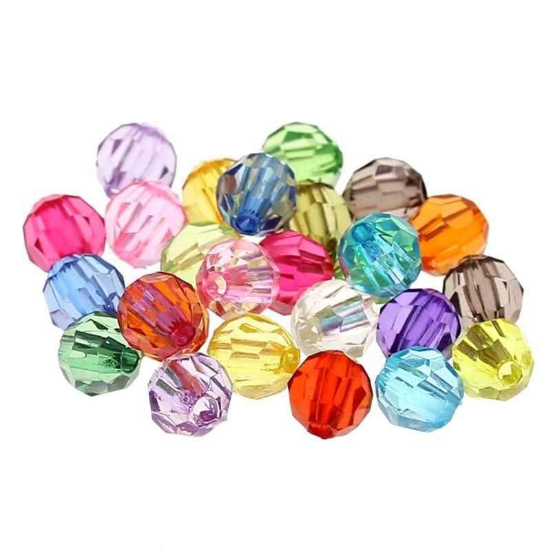 "Doreen Box 500PCs Mixed Acrylic Faceted Round Spacer Beads For DIY Jewelry Making 6mm(2/8"") Dia.(B21782) for 11.11"