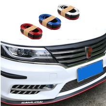 Новый резиновый мягкий бампер для мм автомобиля 60 мм ширина 2,5 м длина наружный передний бампер для губ комплект бампер автомобиля черный и красный/белый/синий