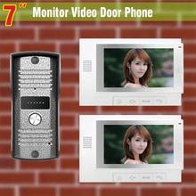 New 2 Monitor 7 Inch Screen Color Video Door Phone Intercom System Video Doorbell Camera Intercom Villa Video Doorbell Intercom