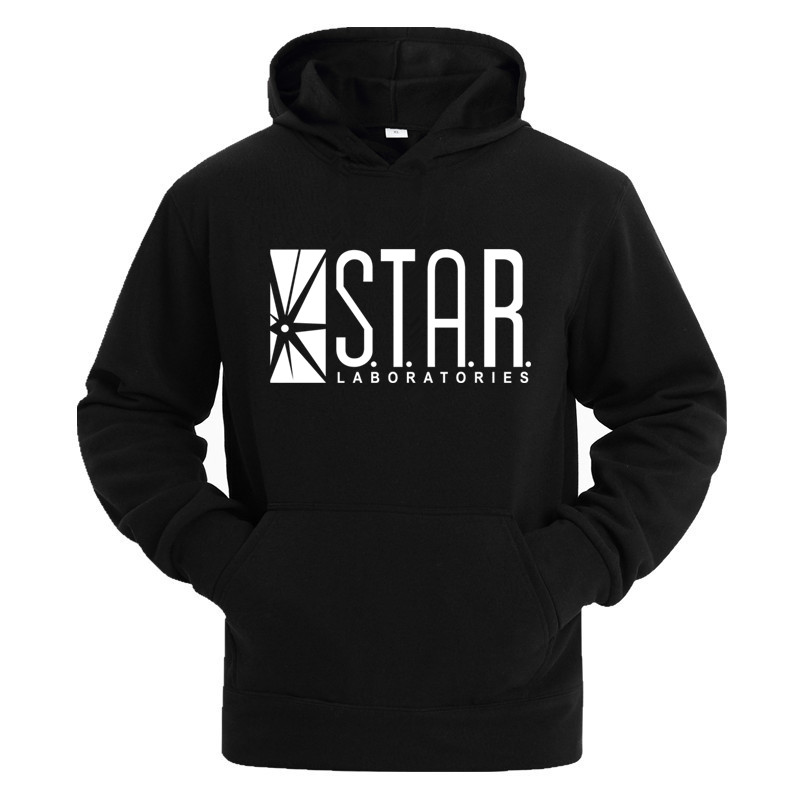 STAR Labs Black Women/Men Hooded Hoodies Male Sweatshirt Jumper The Flash Gotham City Comic Books Superman Tv Series Hoody