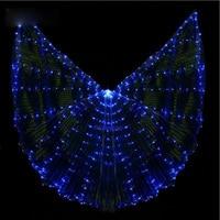 New 2020 Oriental Stafe Performance Prop Belly Dance Wing Costume with Sticks Women Dancewear Girls DJ LED Wings Light Up Wings