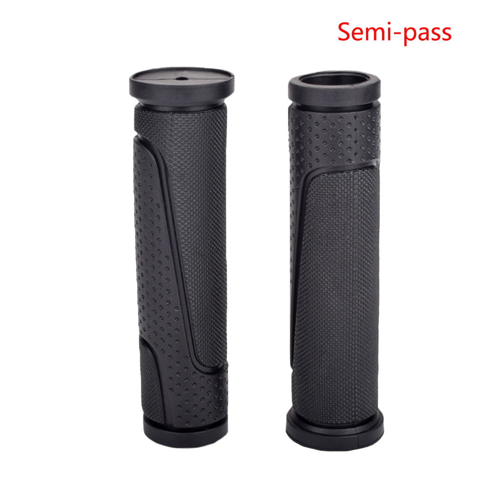 1Pair Cycling Outdoor Parts Anti-shock Short Bicycle Soft Rubber Mountain Bike Accessories Universal Road Non-Slip Handle Grip