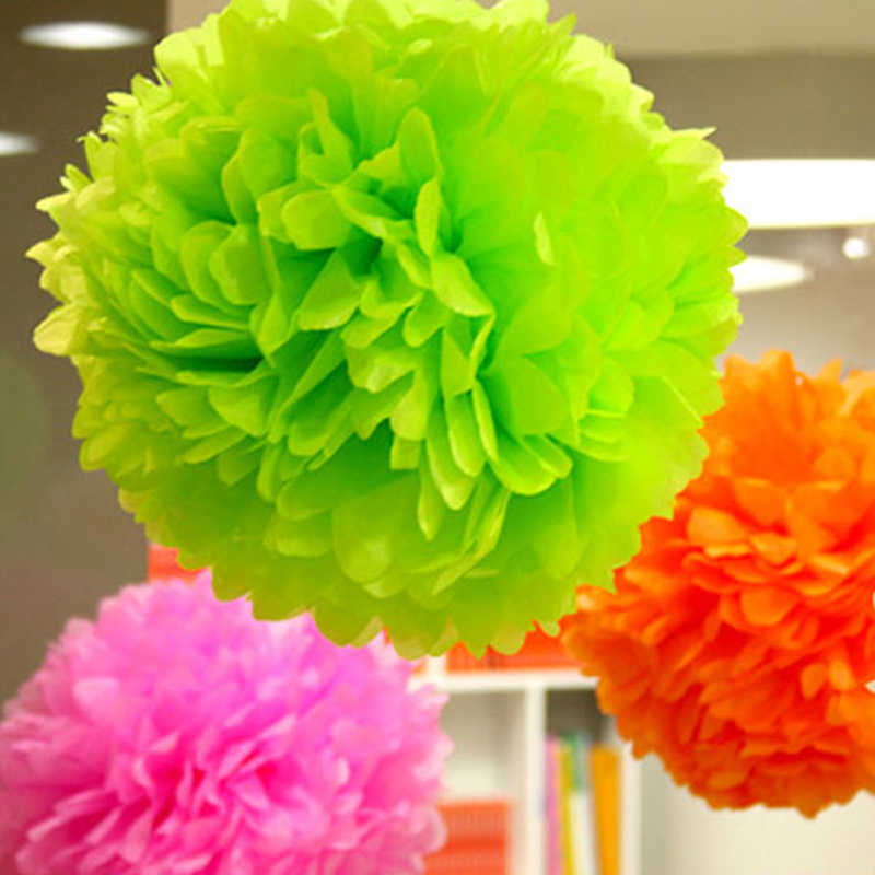 1pcs 4inch Tissue Paper Pom Poms Flower Balls Display Flower Wedding