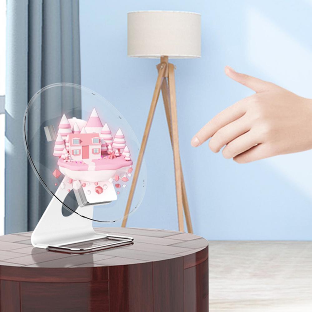 30 cm Portable/42 cm 3D œil nu hologramme publicité projecteur holographique lecteur vidéo affichage ventilateur lumière annonce lumières US EU - 6