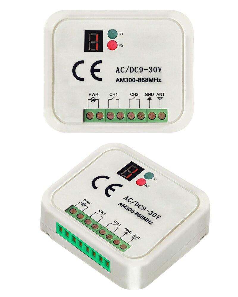 2-CH multi frecuencia 300-868 MHz marca receptor compatible BFT FAAC ...