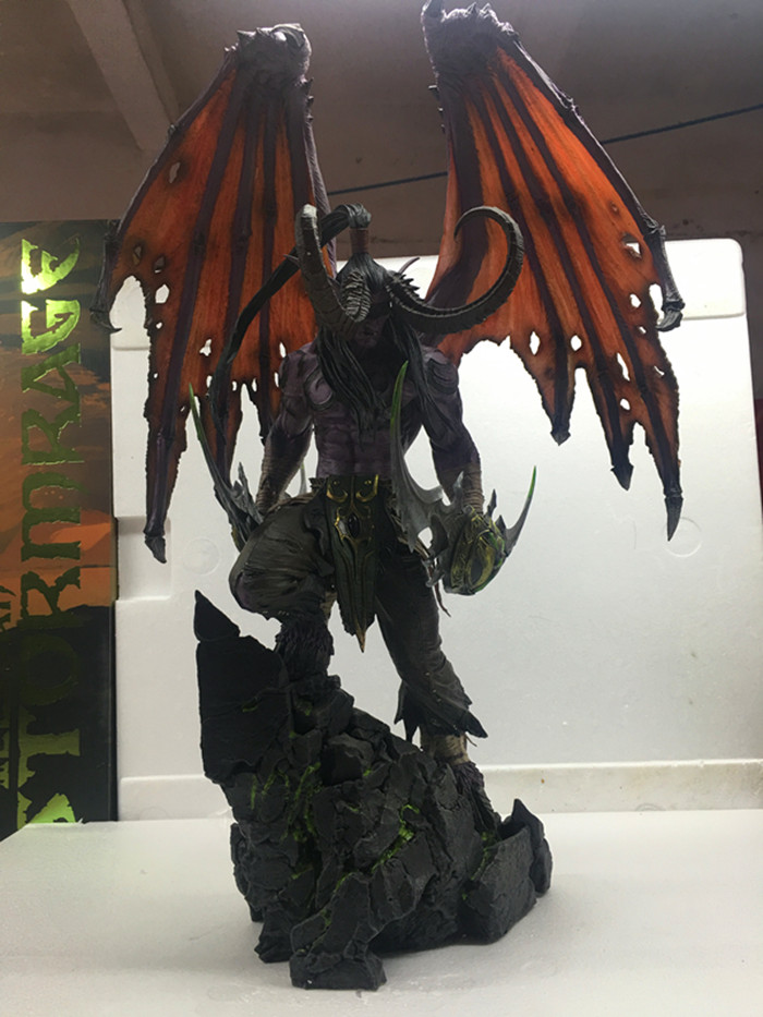 MODEL FANS IN-STOCK wow Illidan 60cm height gk resin statue figure for collection model fans in stock dragon ball z 35cm super saiyangoku and time house gk resin statue figure for collection