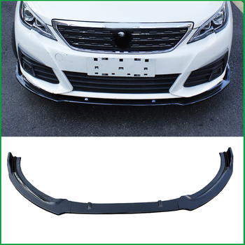 Car Styling For Peugeot 308 2016-2018 ABS Front Bumper spoiler Protector Plate Lip Body Kit Cover Sticker Trim Decorative strip