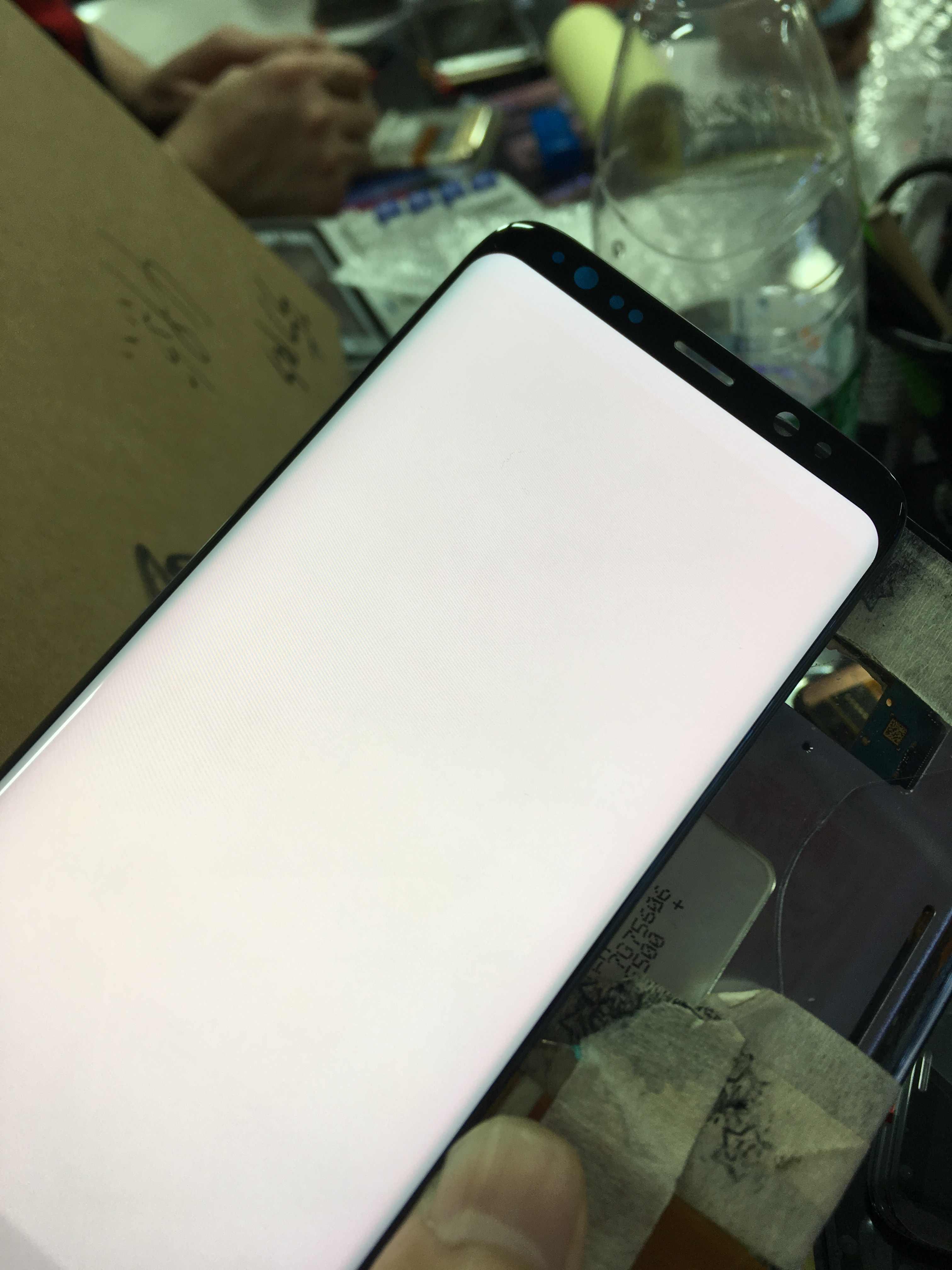 100% اختبار Spuer AMOLED شاشات LCD لسامسونج S8 زائد G955F شاشات LCD لسامسونج S8 G950F LCD شاشة مجموعة رقمنة اللمس مع الإطار